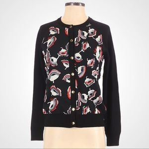 Milly of New York Floral Cardigan 100% Me…